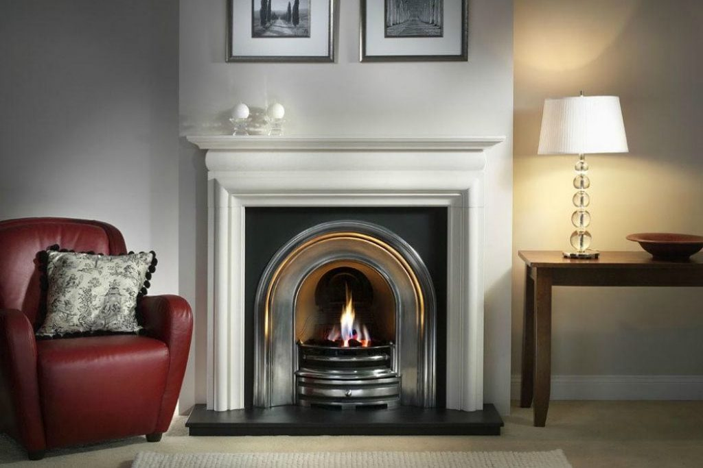 Victorian Fireplace with cast Iron and Marble Surround