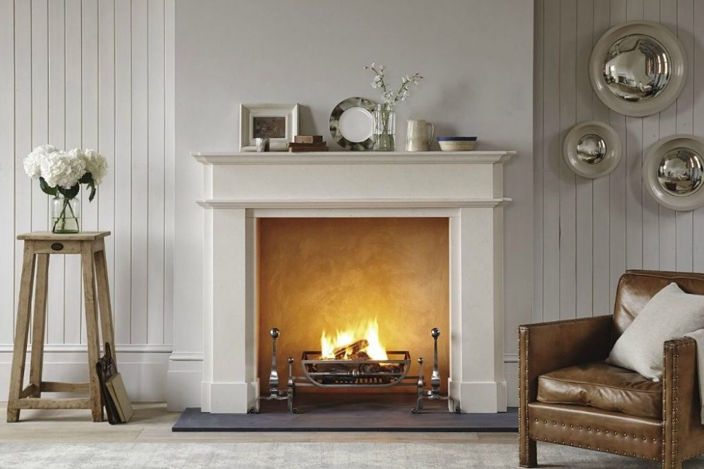 Marble Fireplace with open Fire