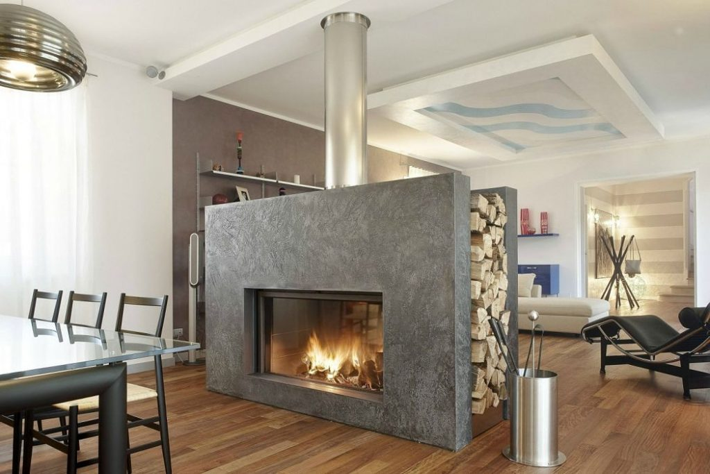 Contemporary Fireplace for large room