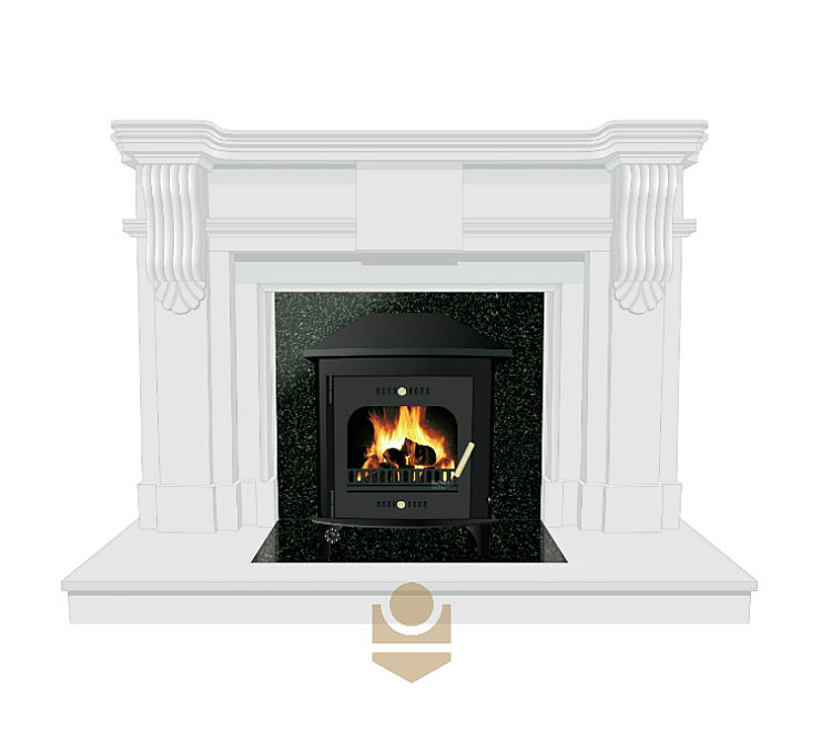 Why is a stove more efficient than an open fire?
