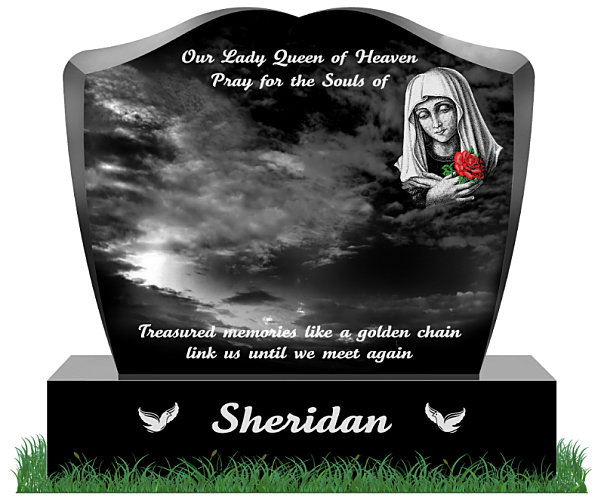 current Heart Shaped Headstone