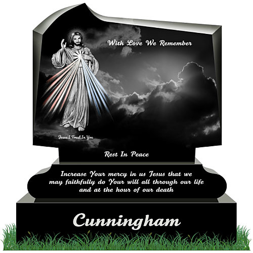 modern headstones with engraved pictures