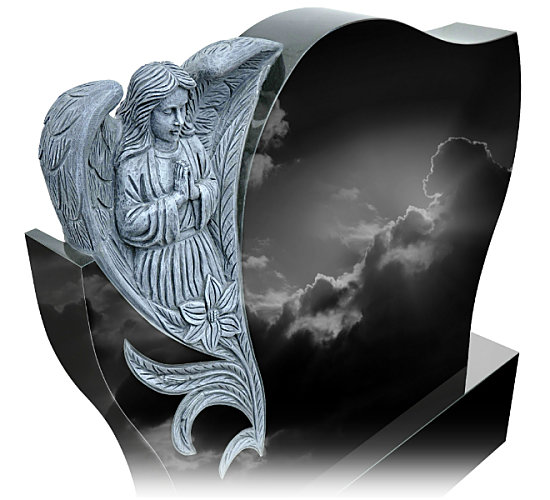 Angel with Wings carved from Granite