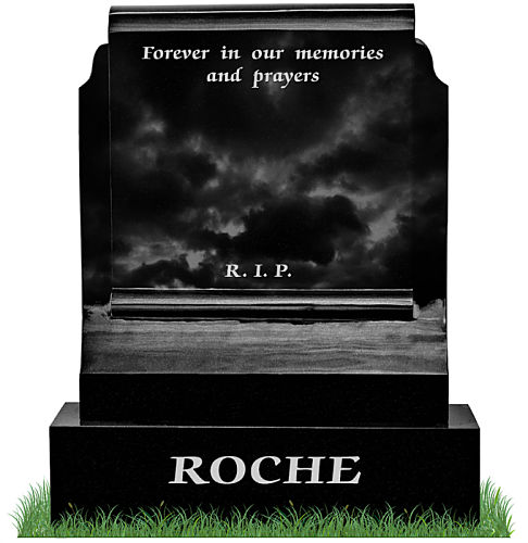 Small tombstone with memorial inscription