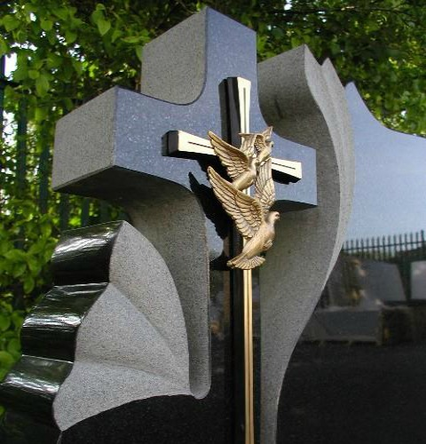 What is a contemporary headstone?