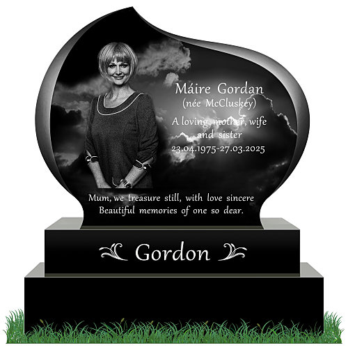 state-of-the-art Headstone Tear Drop design