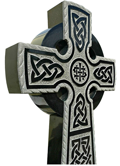 Celtic Lacing carved from Granite