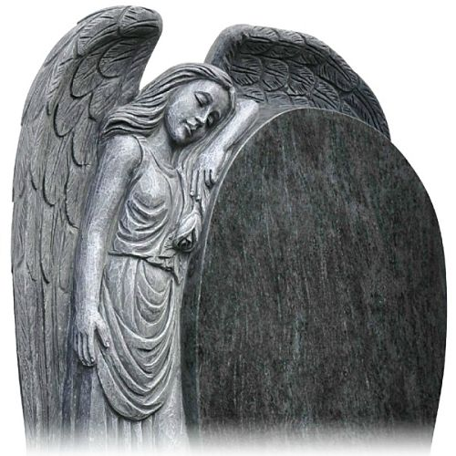 Hand Carved Angel Headstone made from Granite