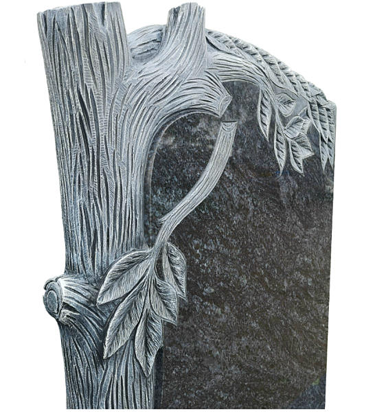 Gravestone with Tree hand-carved